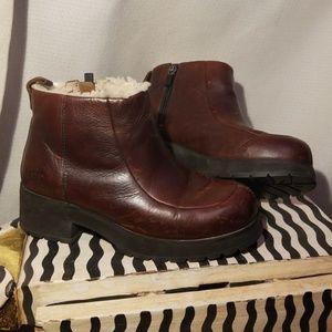 Ugg leather platform boots